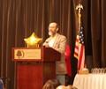 Chris Lissandrello receives his award for Region 4 Art Educator of the Year