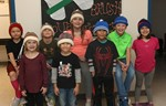 Students wear donated hats