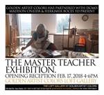 Poster for art event featuring sidney teacher
