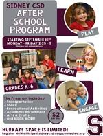 After-school program flier