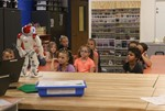 NAO robot speaks to second graders