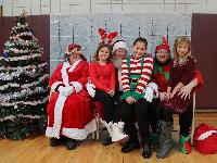 Breakfast with Santa at Sidney Elementary School