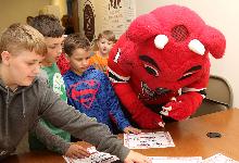 Binghamton Devil visits Sidney CSD