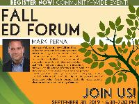 Educational forum flyer