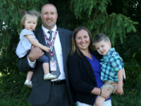 Eben Bullock and family shortly before being named the new Sidney CSD Superintendent