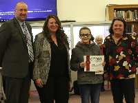 Sidney eighth grader recognized at Board of Education meeting