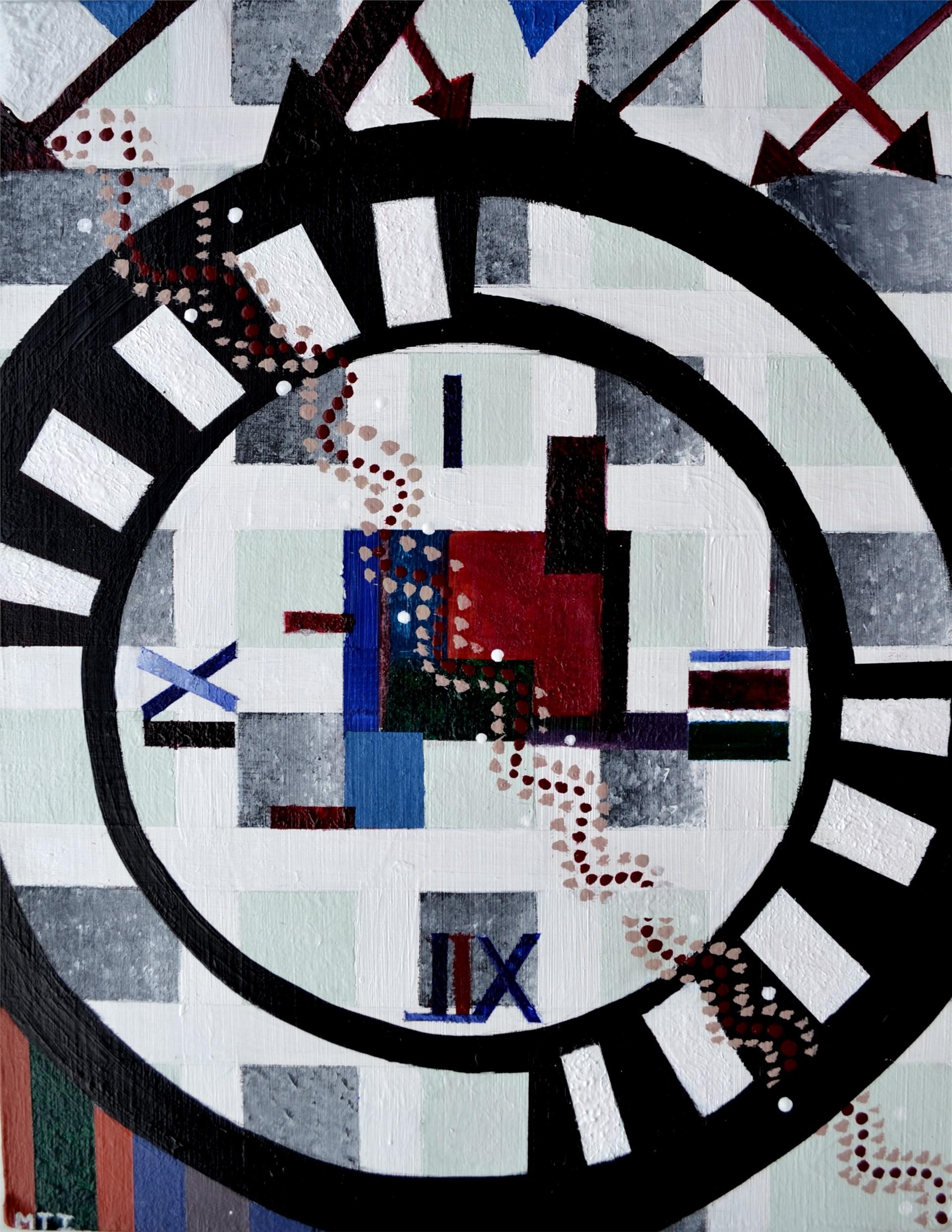 MARRIAM IQBAL, Timeless, acrylic on plasterboard, 14 x 10.5, 2015