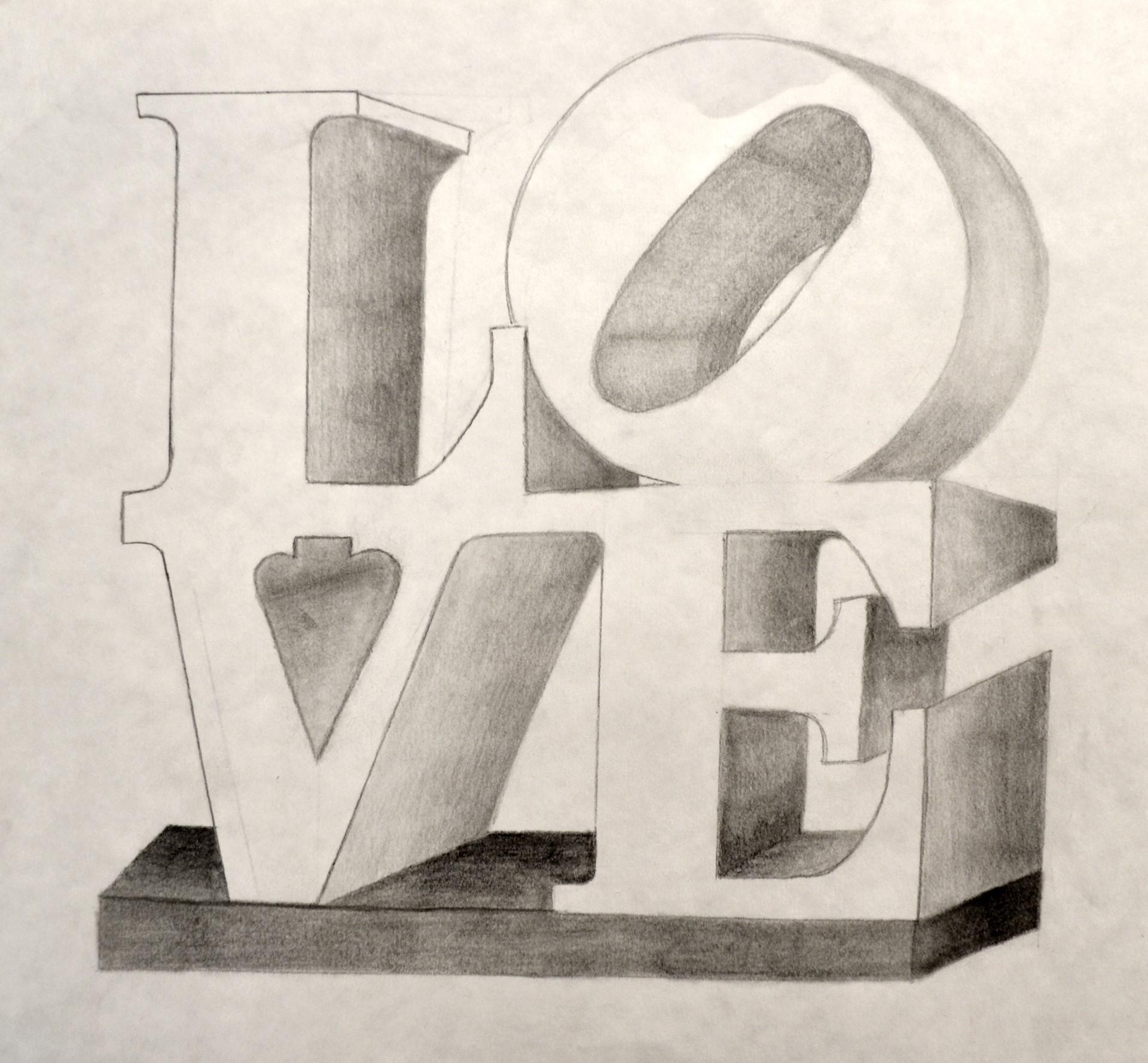 QUIANNA CHURCH, LOVE, graphite, 12 x 12, 2014