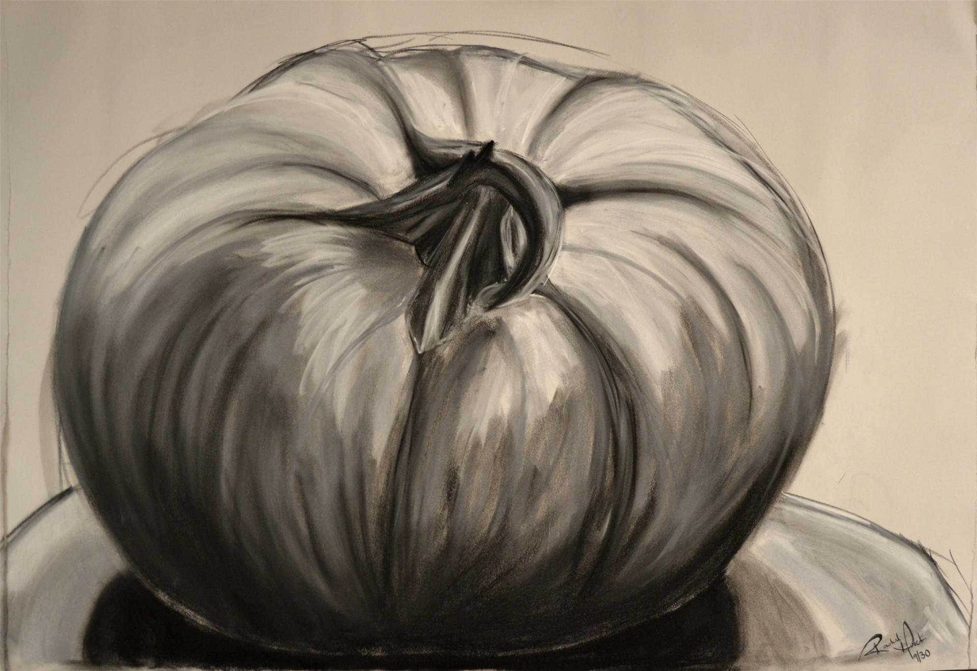 RACHEL HOUCK, Pumpkin, charcoal &pastel on newsprint, 24 x 36, 2014