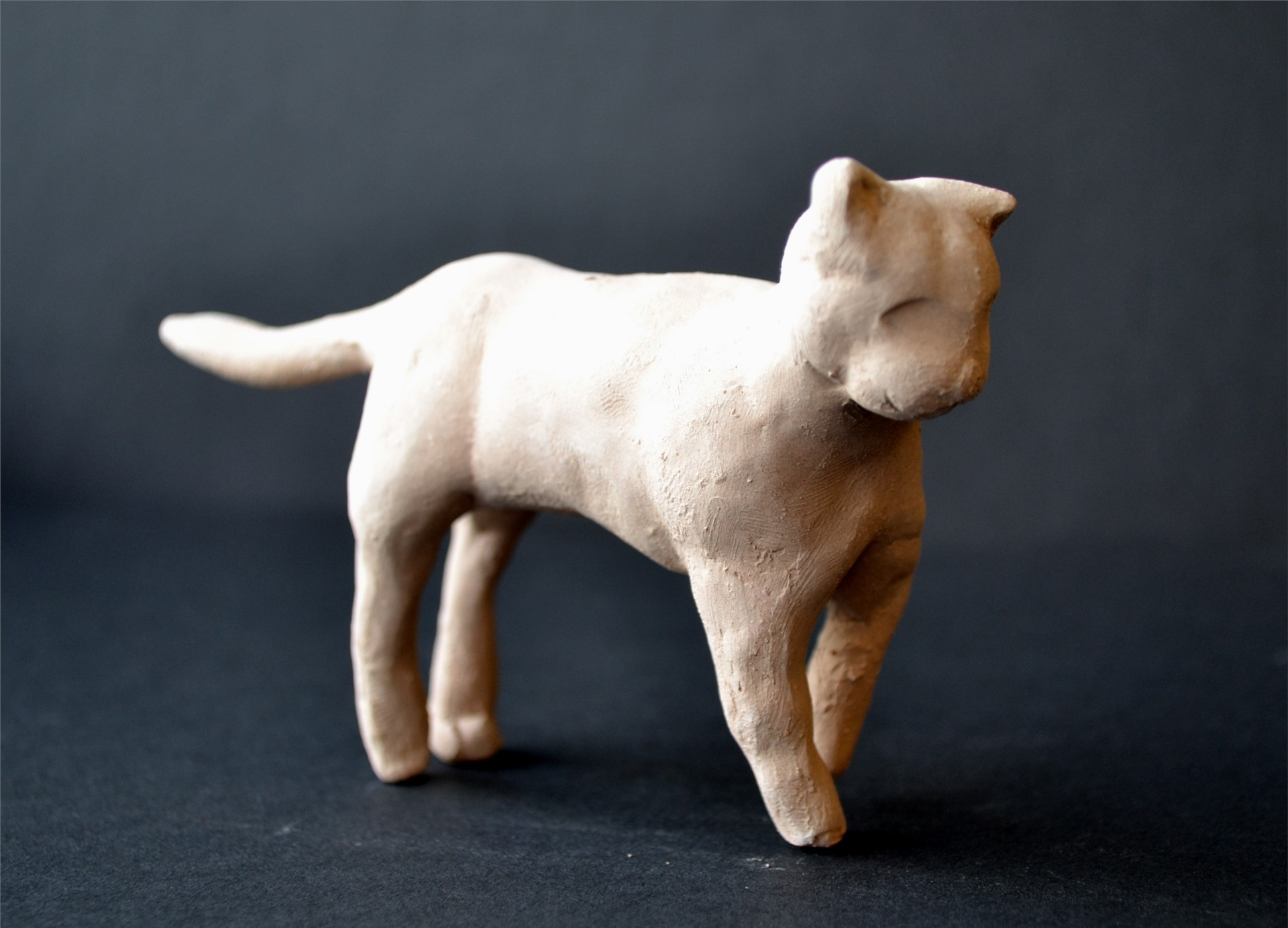 RACHEL ZOON, Ceramic Cat, Independent Study, 3 x 5 x 1.25, 2015