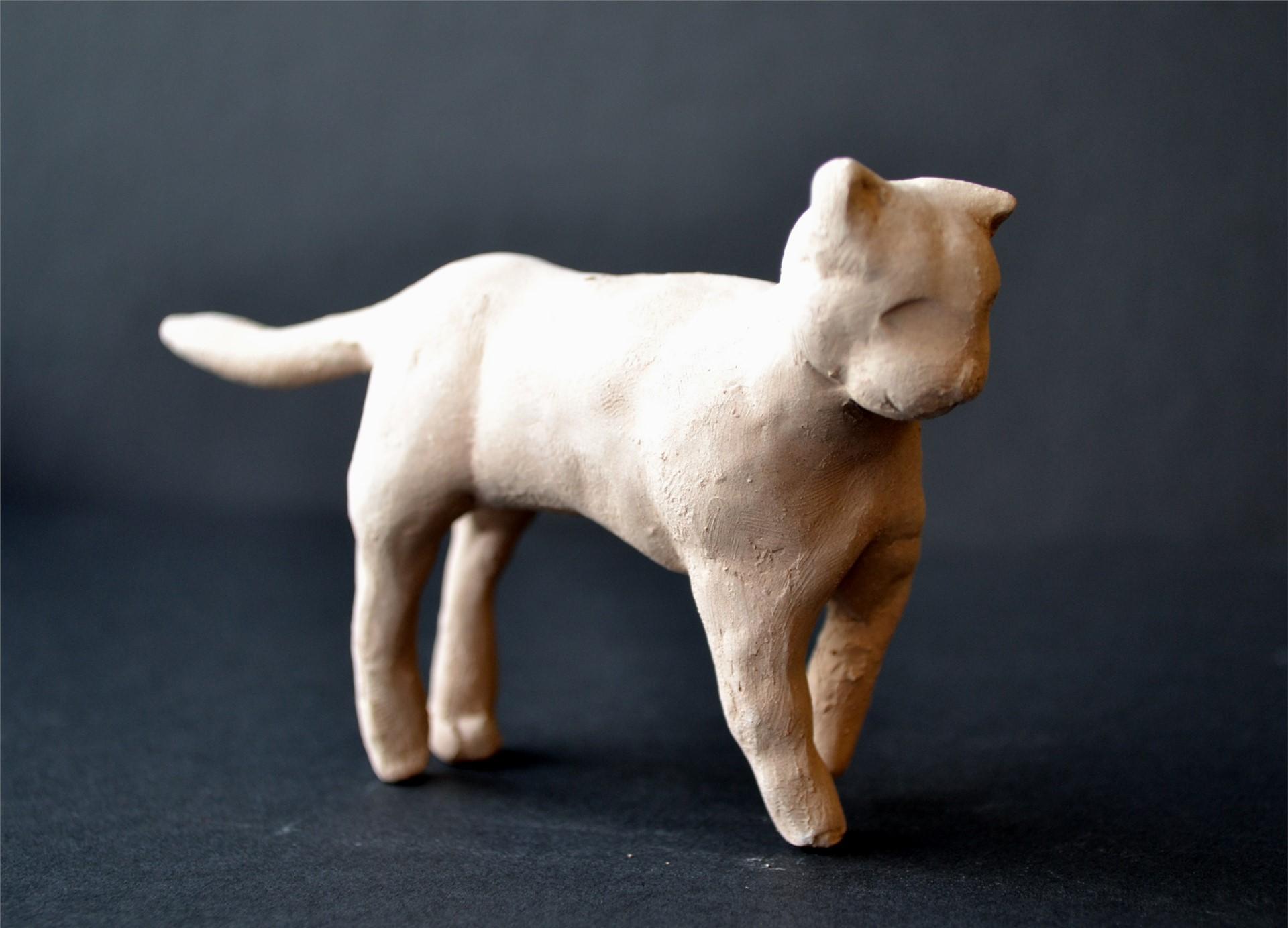 RACHEL ZOON, Ceramic Cat, Independent Study, 3 x 5 x 1.25, 2015