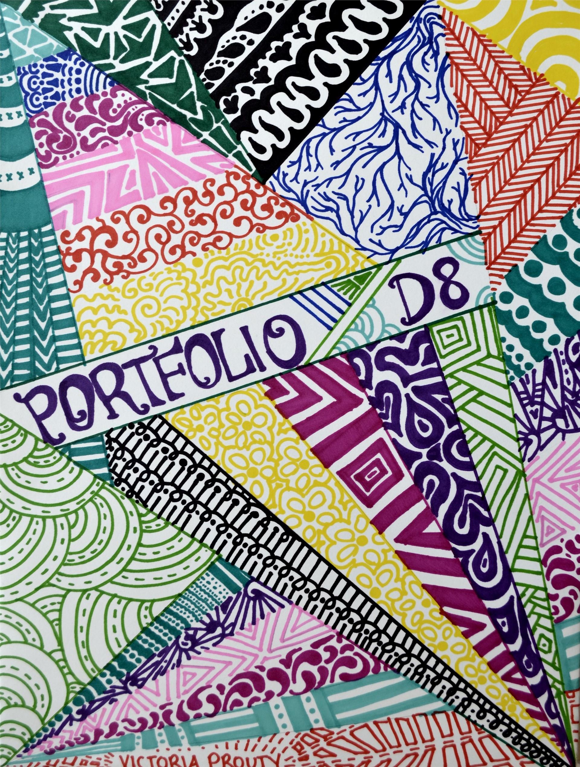 VICTORIA PROUTY, Portfolio Design, ink on tag, 14 x 11, 2015