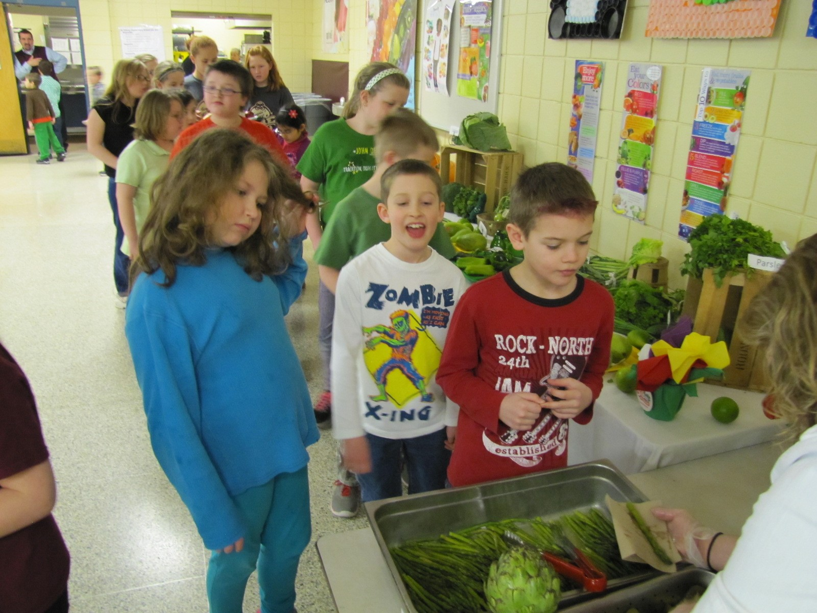 green veggies and fruits day
