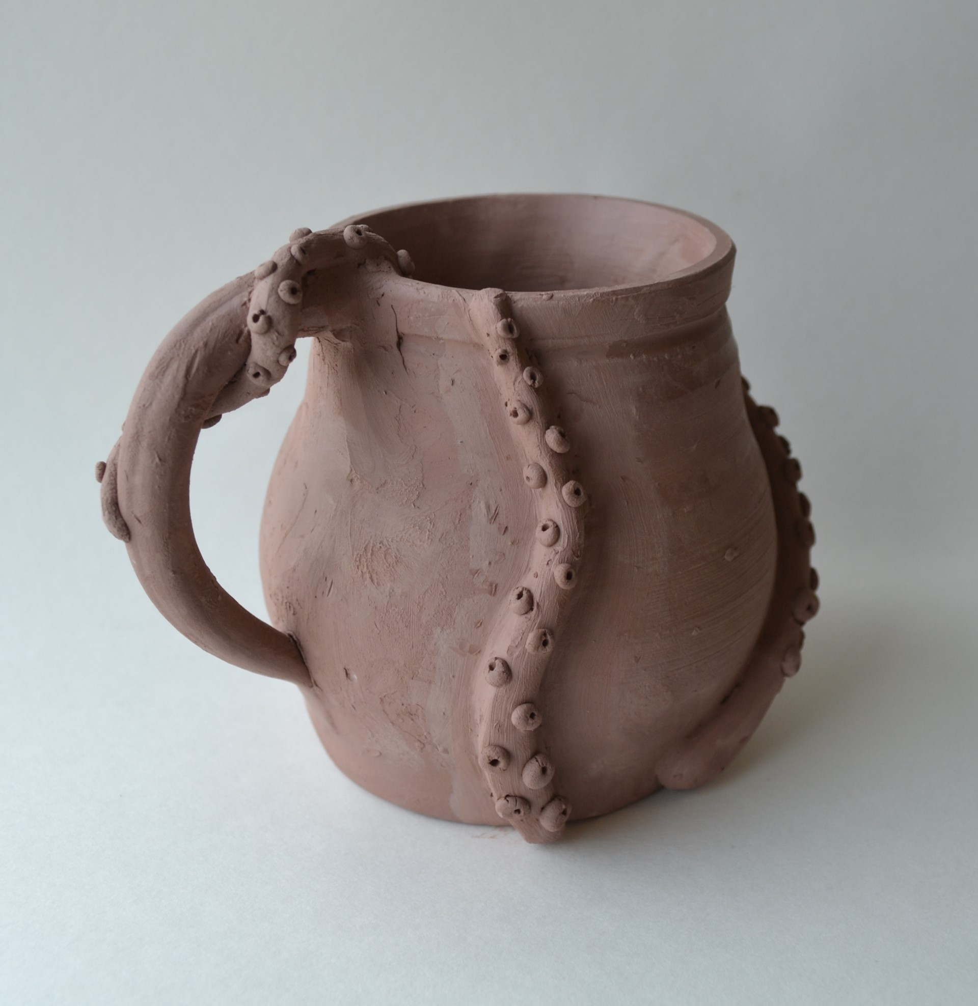 Haven Coons, Octopus Mug, greenware, 2006