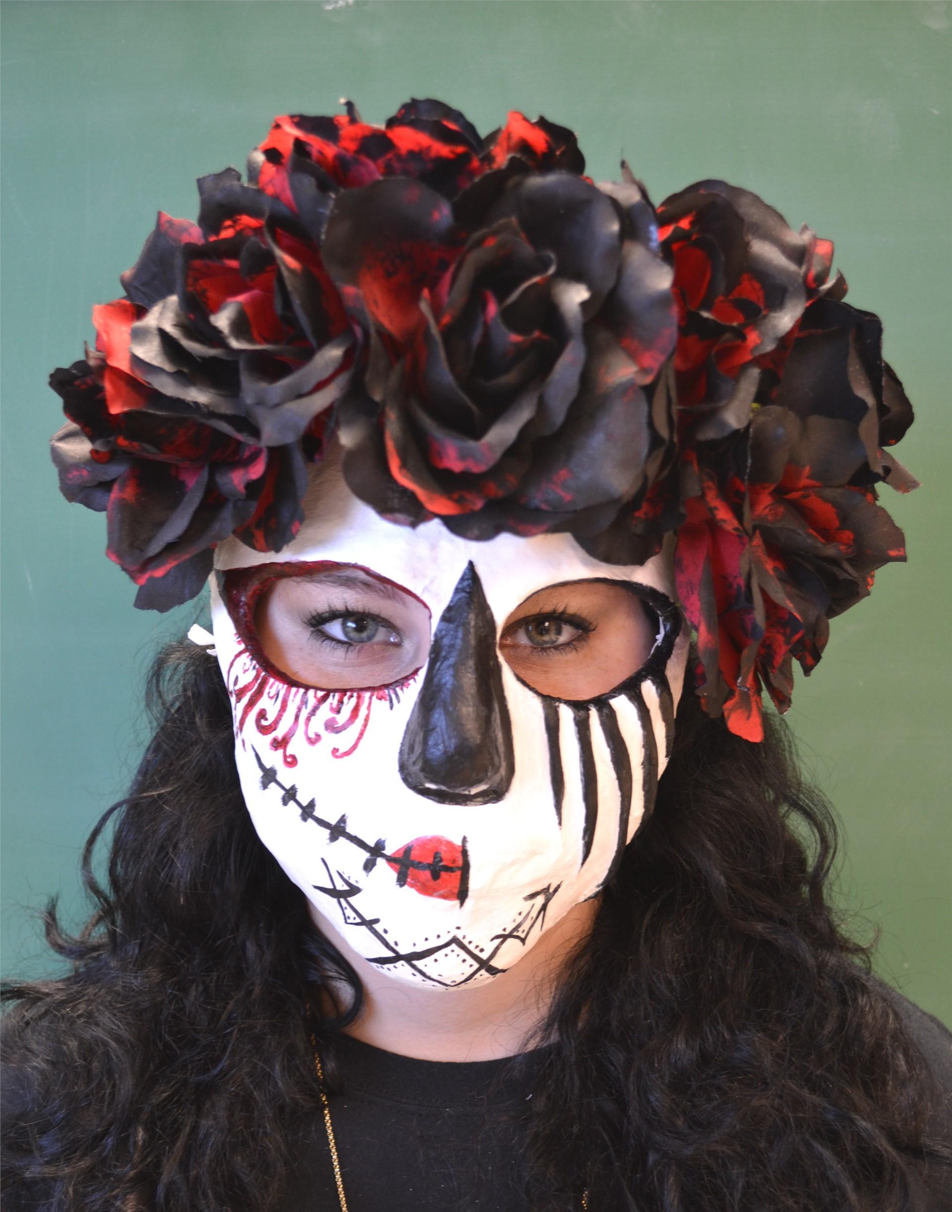 Mya Vance, multi-media mask, 2015