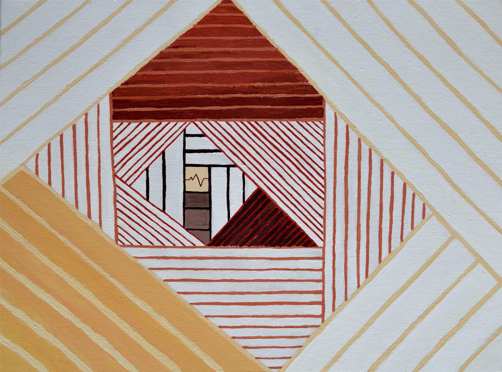 Shyann Krobetzky, Color Wheel Line Project, acrylic on canvas board, March 2016