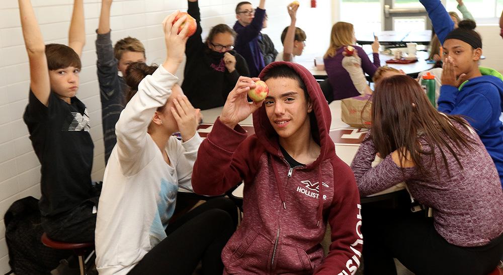 Students taking part in #BigAppleCrunch