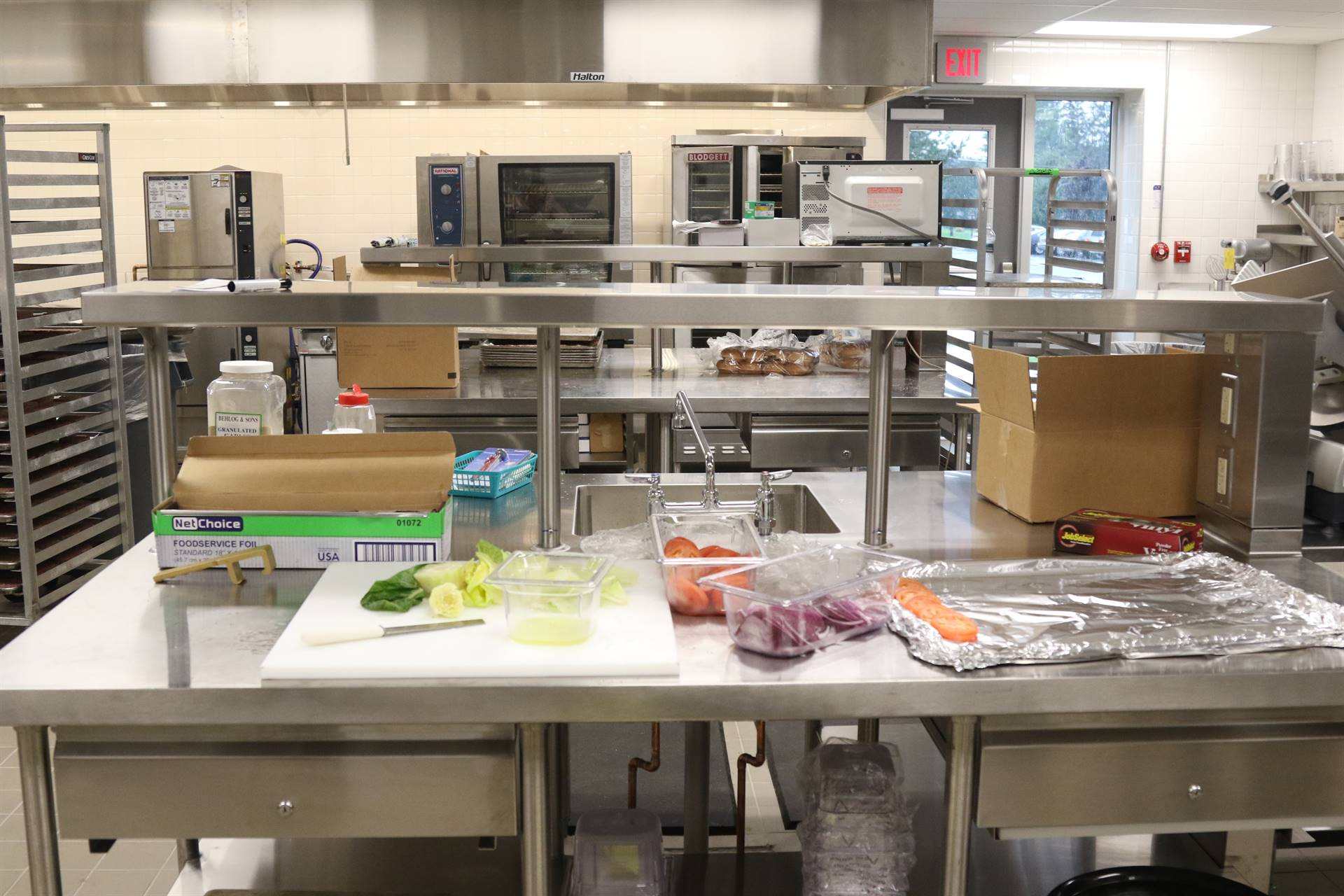 New kitchen at high school