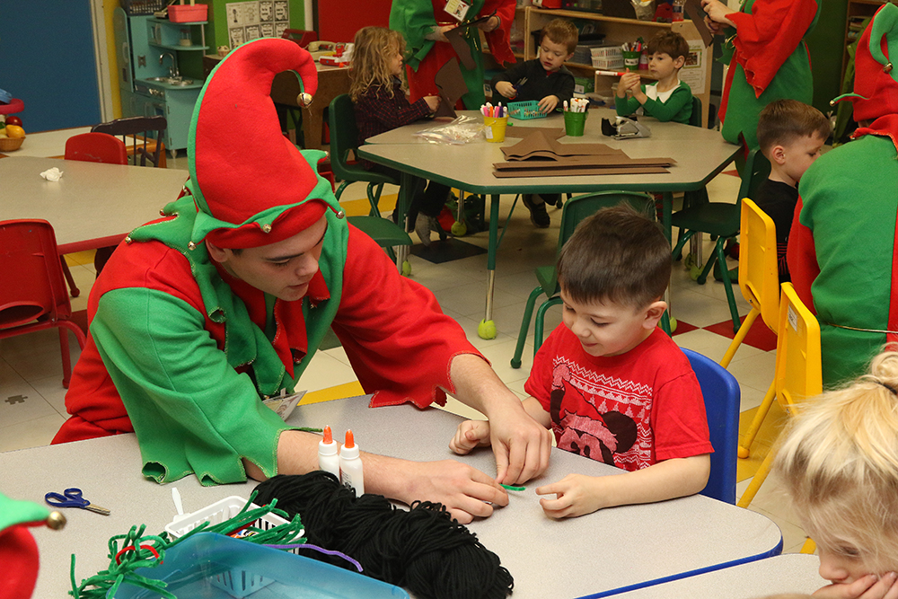 Sidney elves at the Binghamton Discovery Center