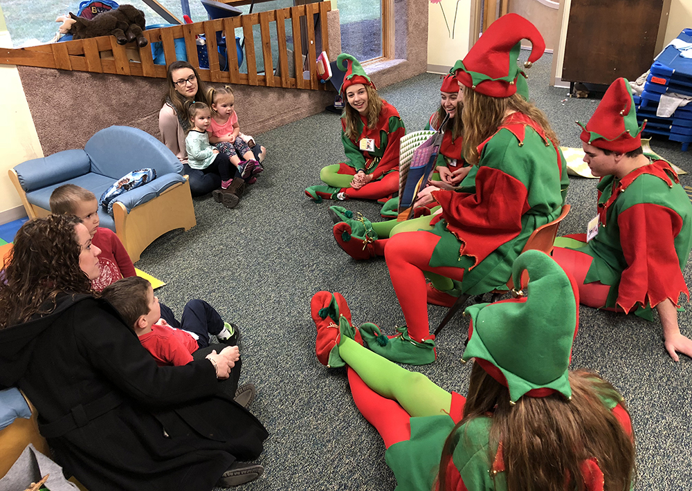 Sidney elves at the Cullman Center