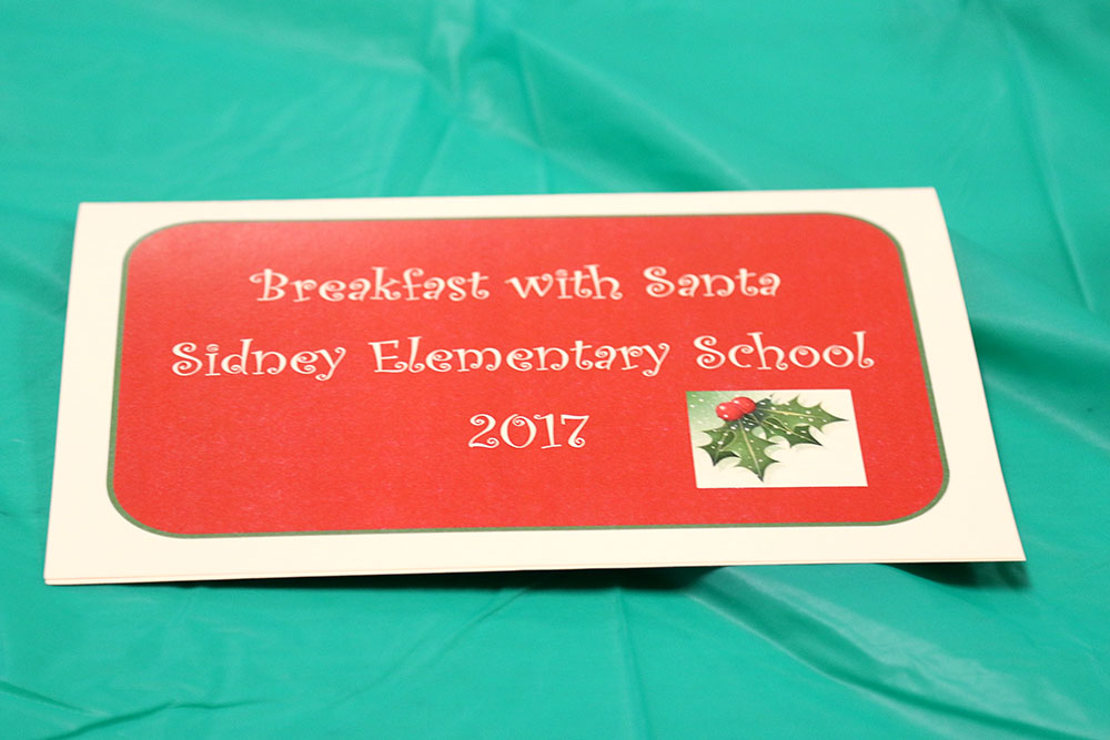 Breakfast with Santa event: 2017