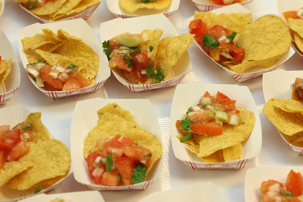 Pico de Gallo and tortilla chips at the Common Ground taste testing