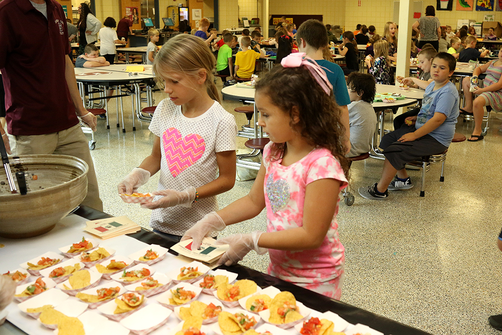 Elementary students at the Common Ground taste testing