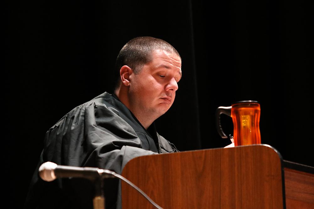 Mock trial in January 2018