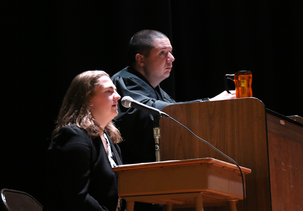 Mock trial in January 2018