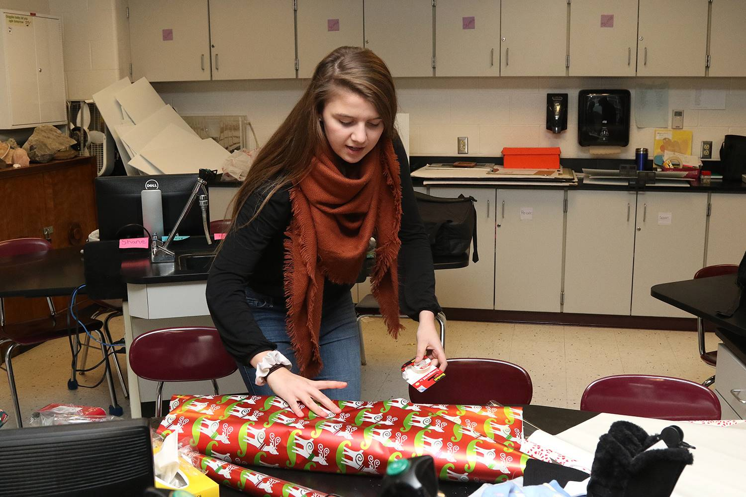 NHS wrapping presents
