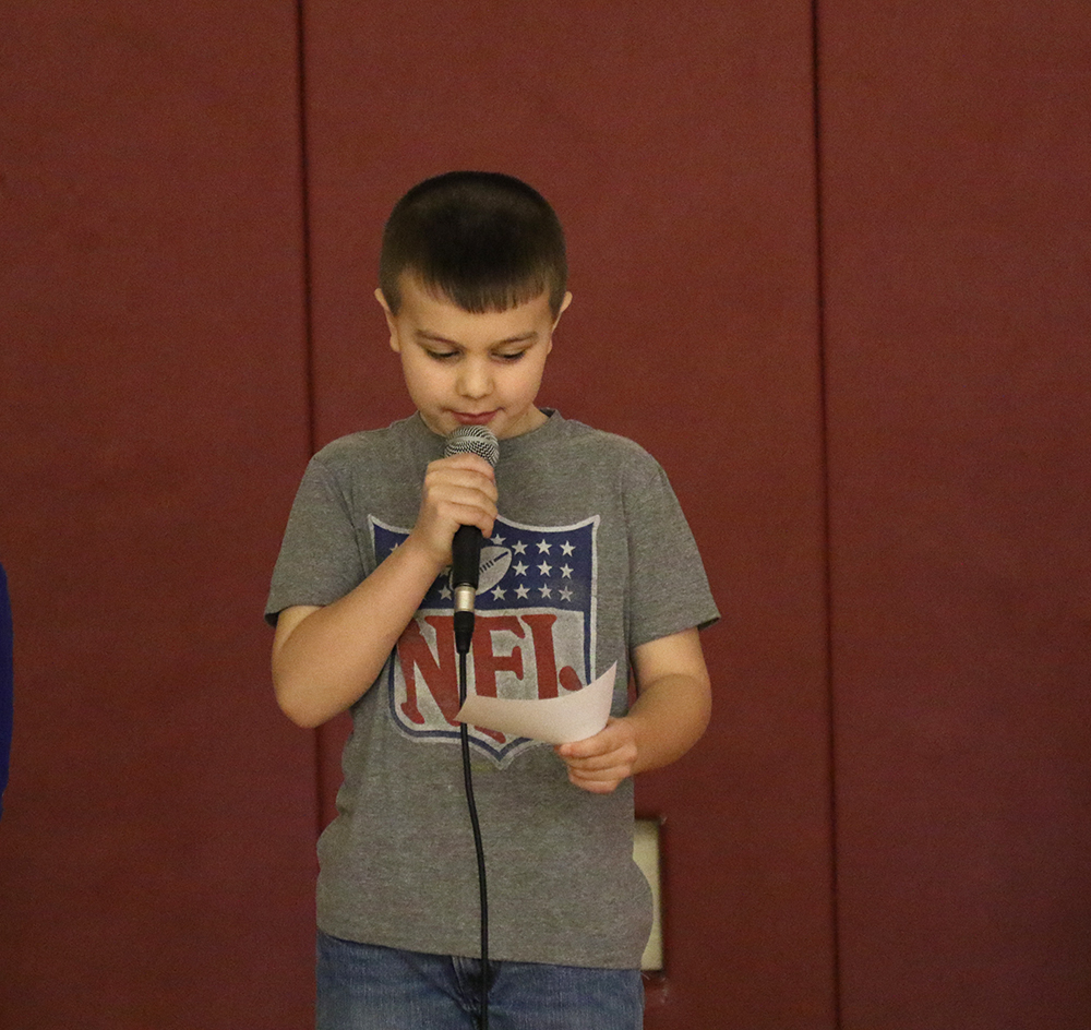 Reading Warriors assembly on February 2, 2018