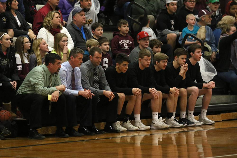 Sectional boys basketball second round on February 23, 2018.