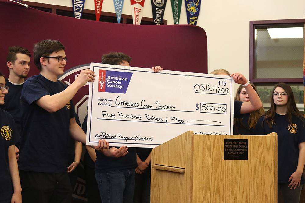 Interact donates $500 to the American Cancer Society