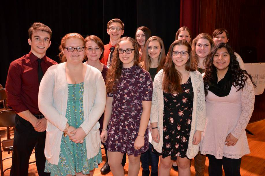 NHS/Tri-M Induction ceremonies 2018