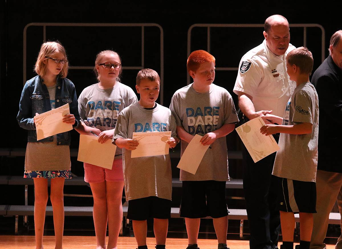 The annual D.A.R.E. graduation at Sidney CSD.