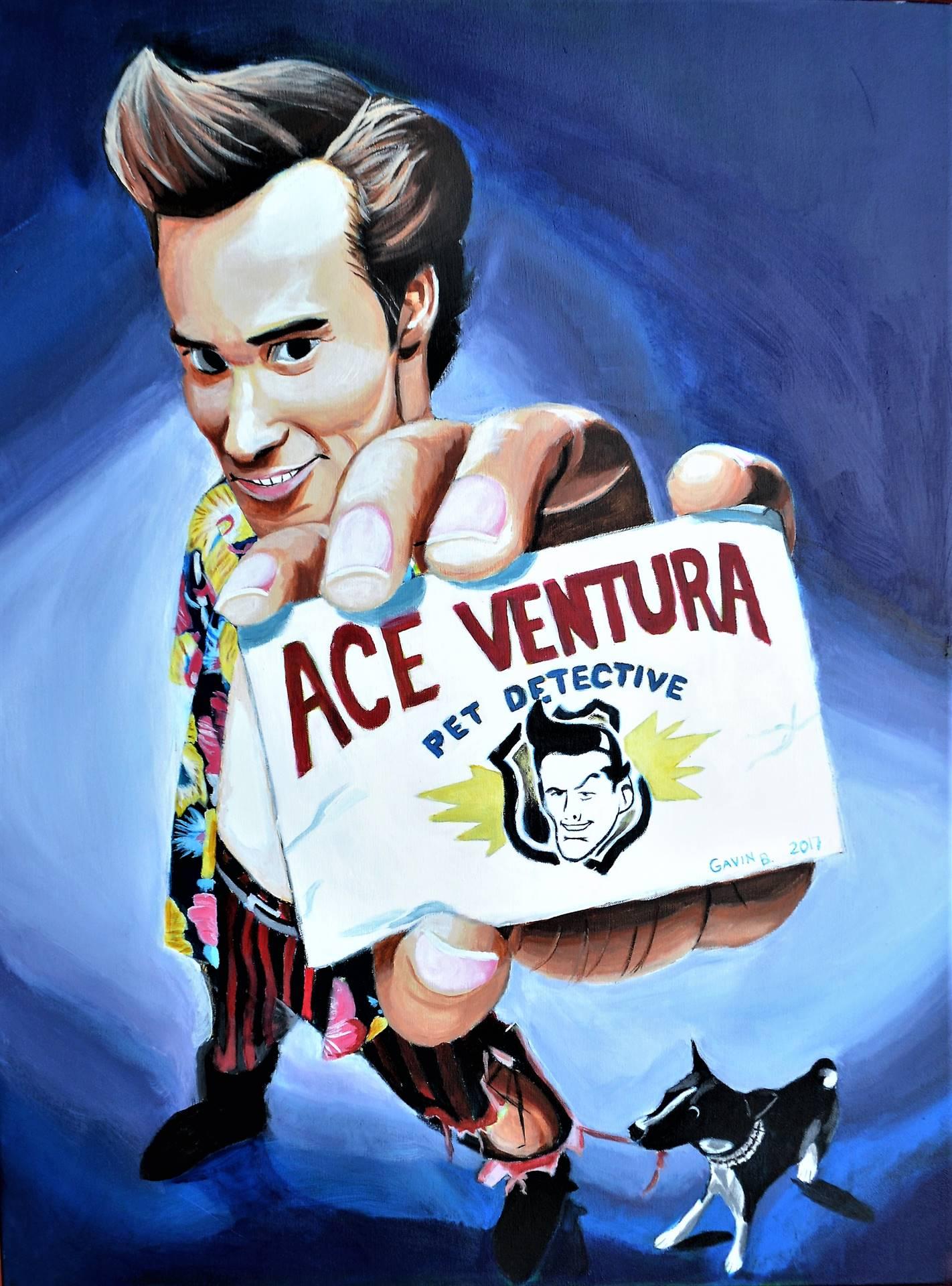 Gavin Bocanegra, Ace Ventura, acrylic on canvas, 40 x 30, 2017