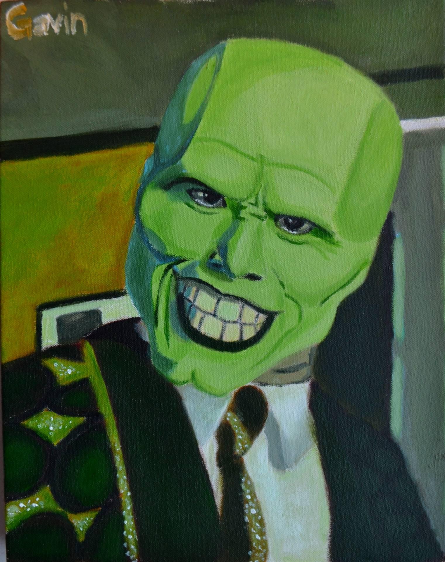 Gavin Bocanegra, The Mask, acrylic on canvas, 14 x 11, 2016