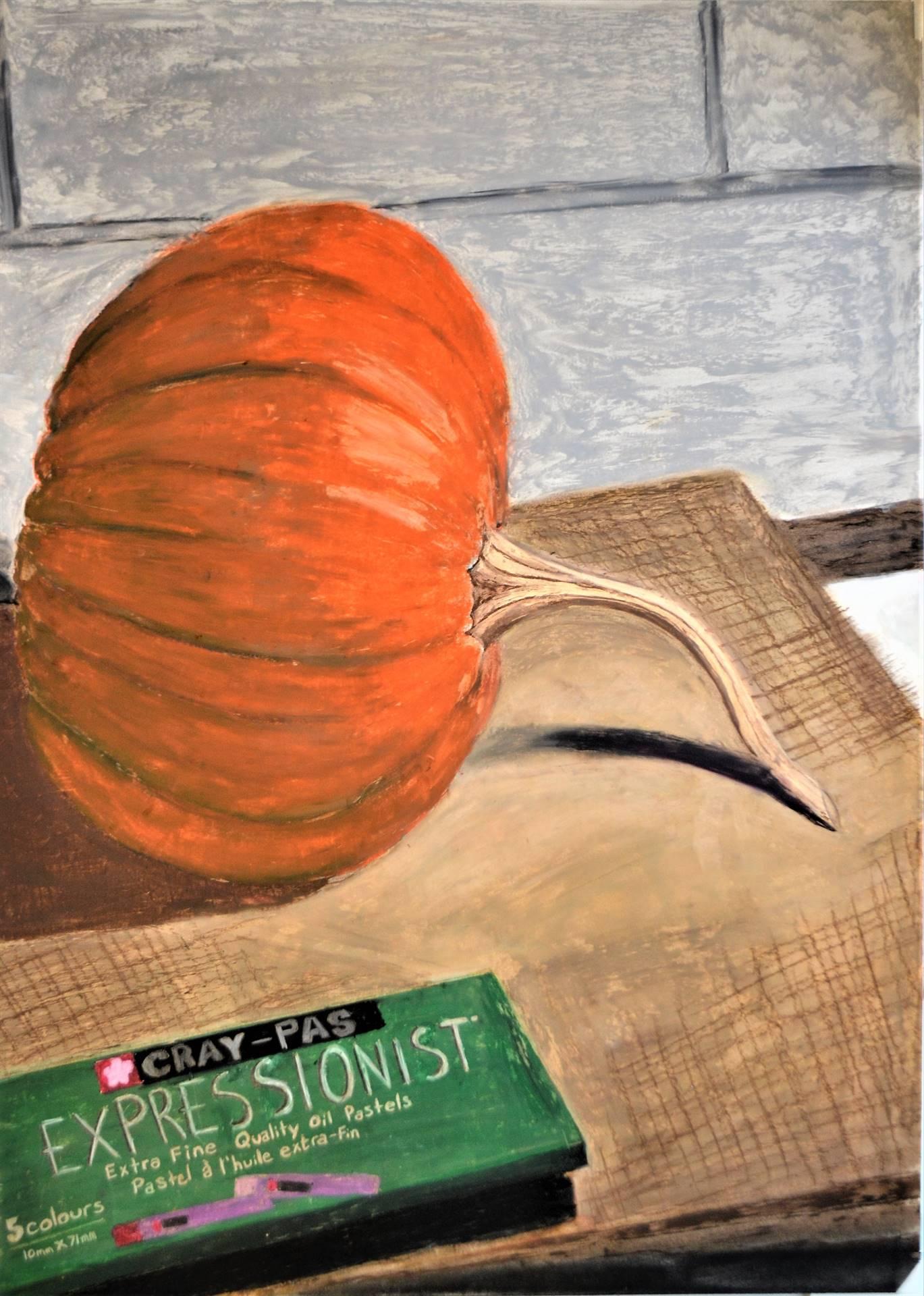 Kayla Wilcox, Pastel Pumpkin, 24 x 18, 2017