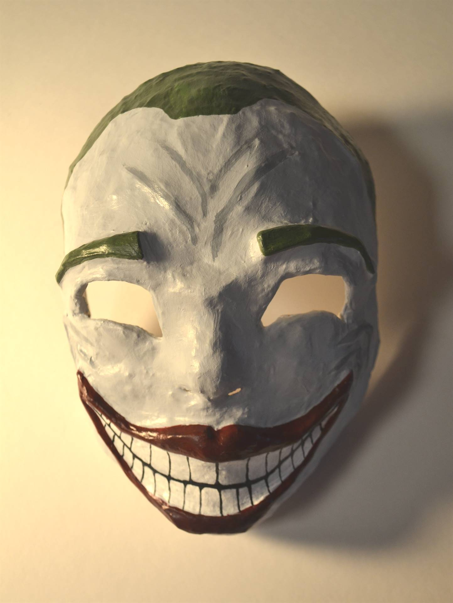 Kaylie Bowers, Joker with a Twist, multi-media mask, 2016