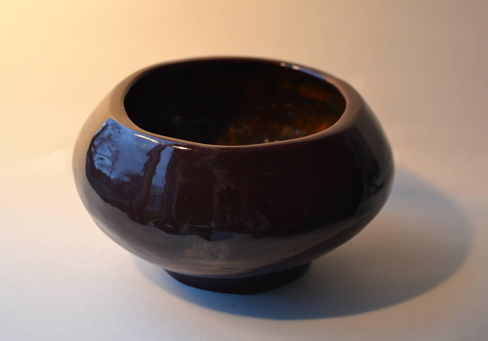 Cora Monaghan, coil built bowl, 3.5 x 5.5, 2016