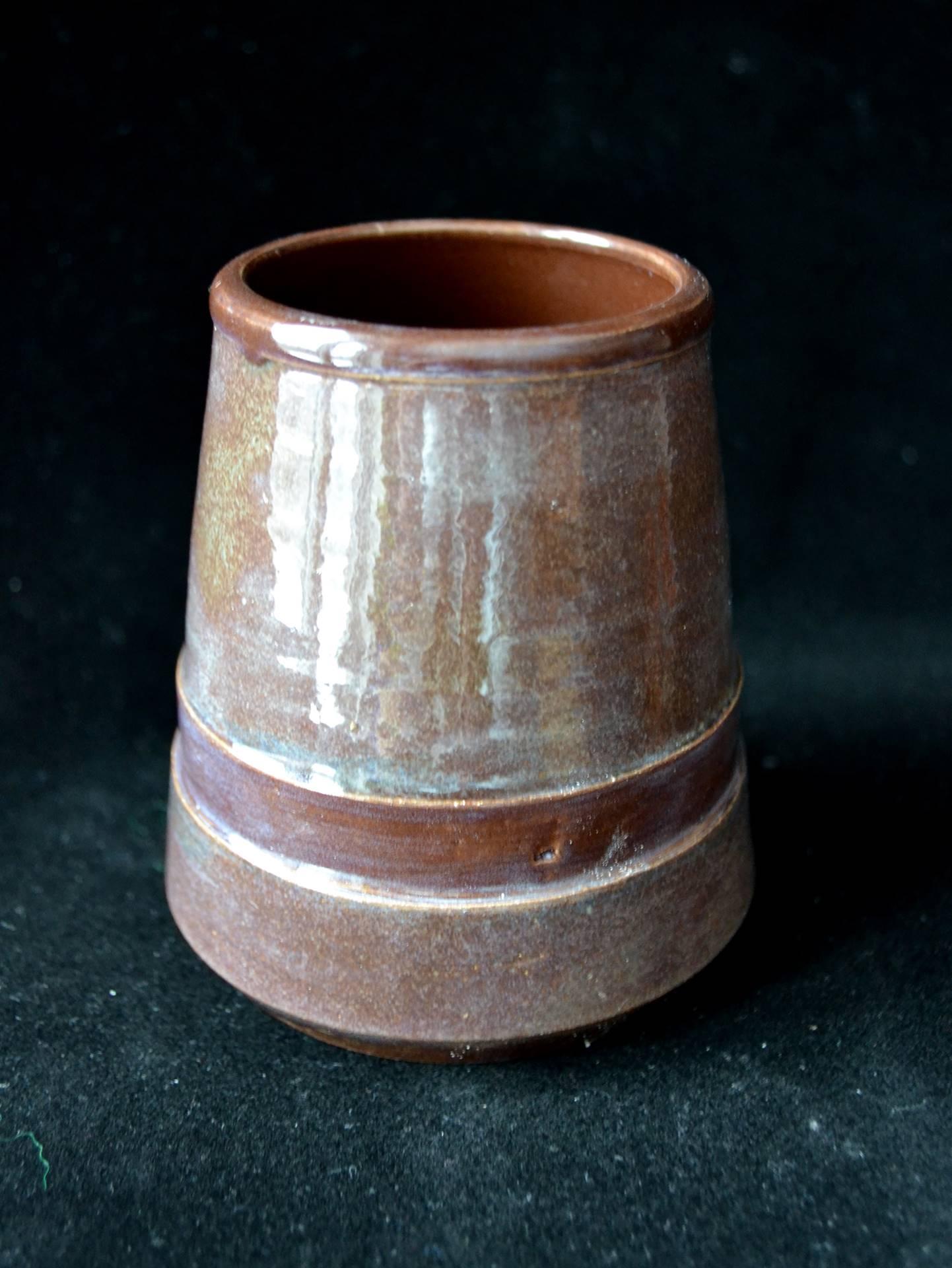 Ian Howes, ceramic tumbler, 3.75 x 3.5, 2017