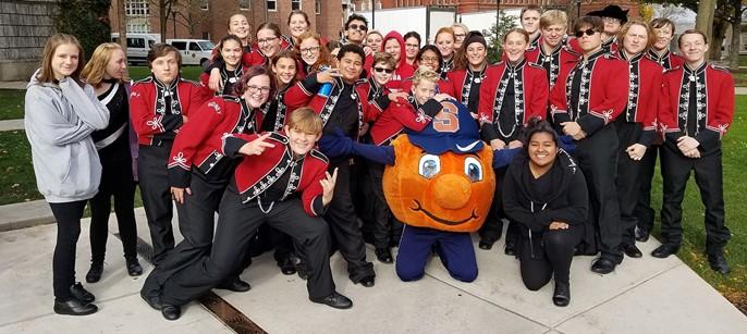 Sidney CSD band at Syracuse