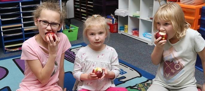 Apple crunch day kids