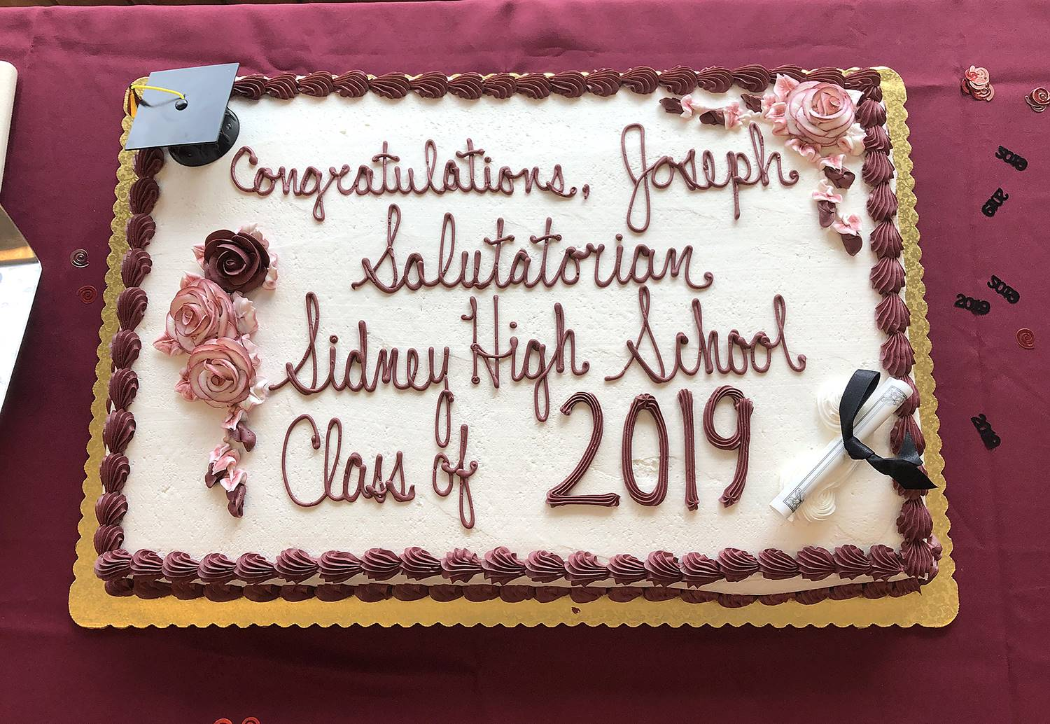 Valedictorian-Salutatorian celebration 2019