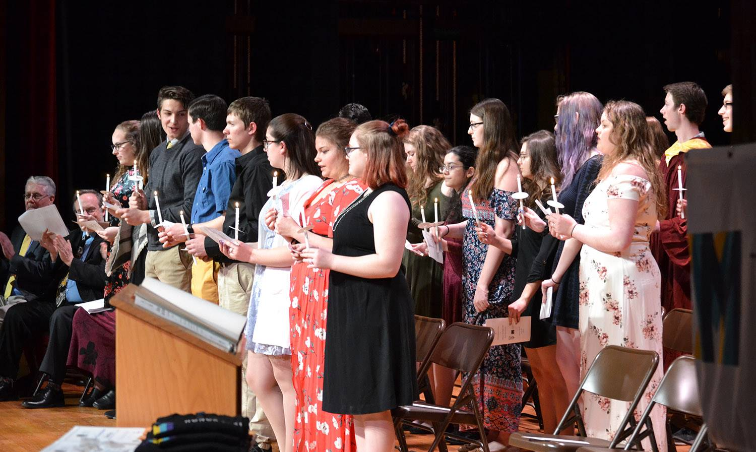 National Honor Society and Tri-M Honor Society inductions 2019